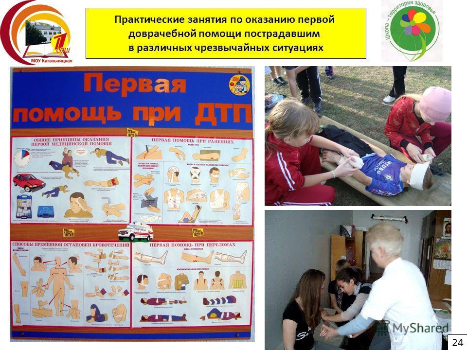 Практические занятия по оказанию первой доврачебной помощи пострадавшим в различных чрезвычайных ситуациях 24