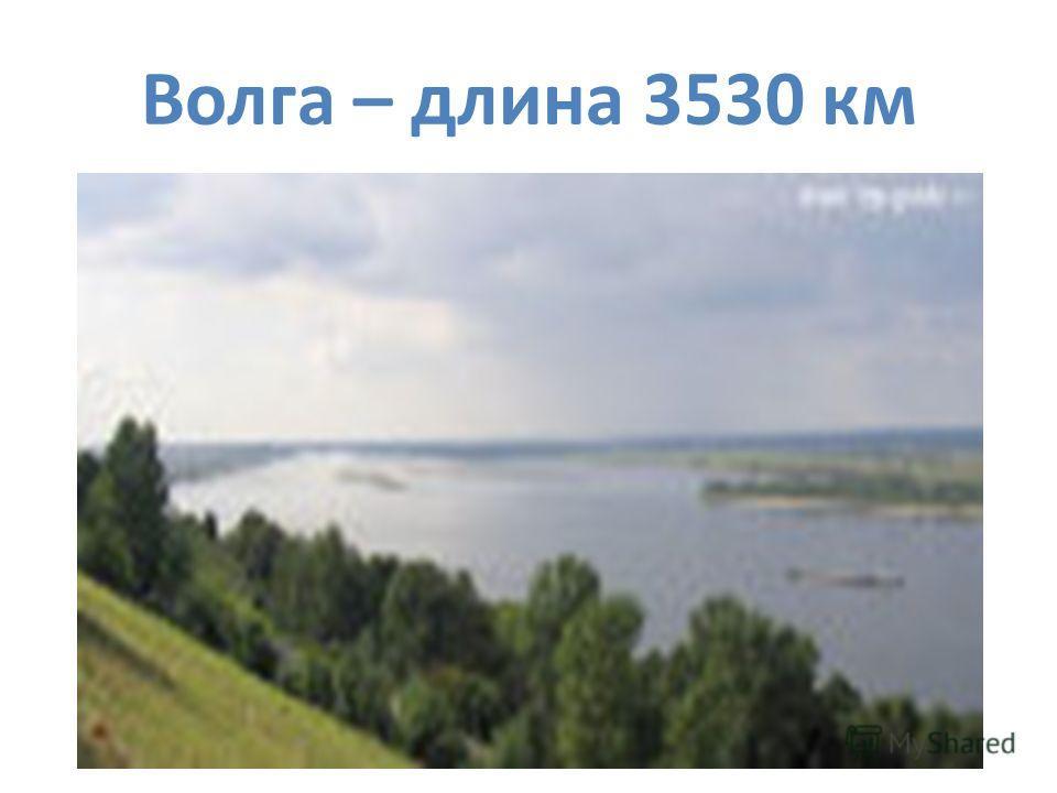 Волга – длина 3530 км