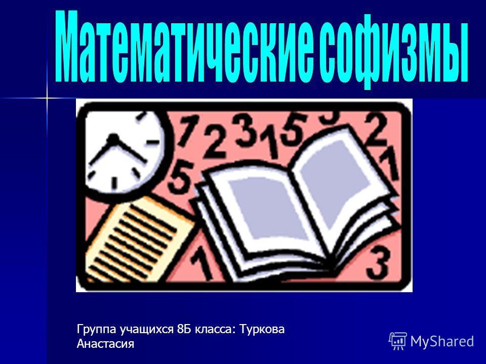 Группа учащихся 8Б класса: Туркова Анастасия