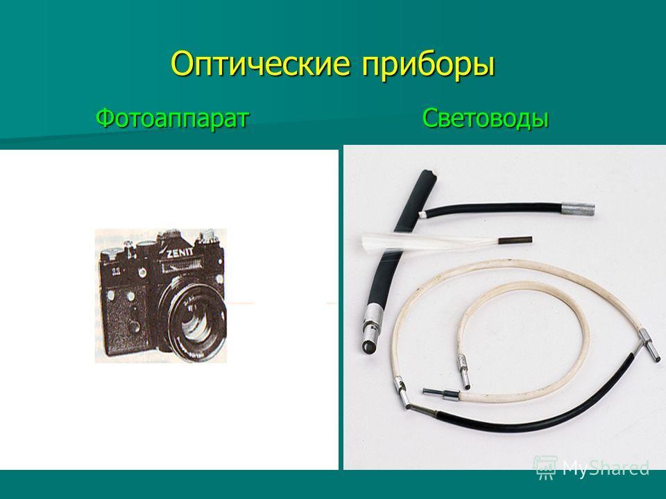 Оптические приборы Фотоаппарат Световоды Фотоаппарат Световоды