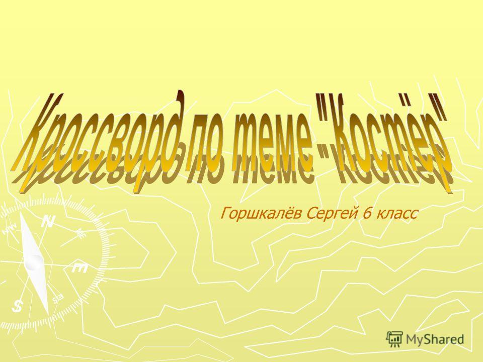 Горшкалёв Сергей 6 класс