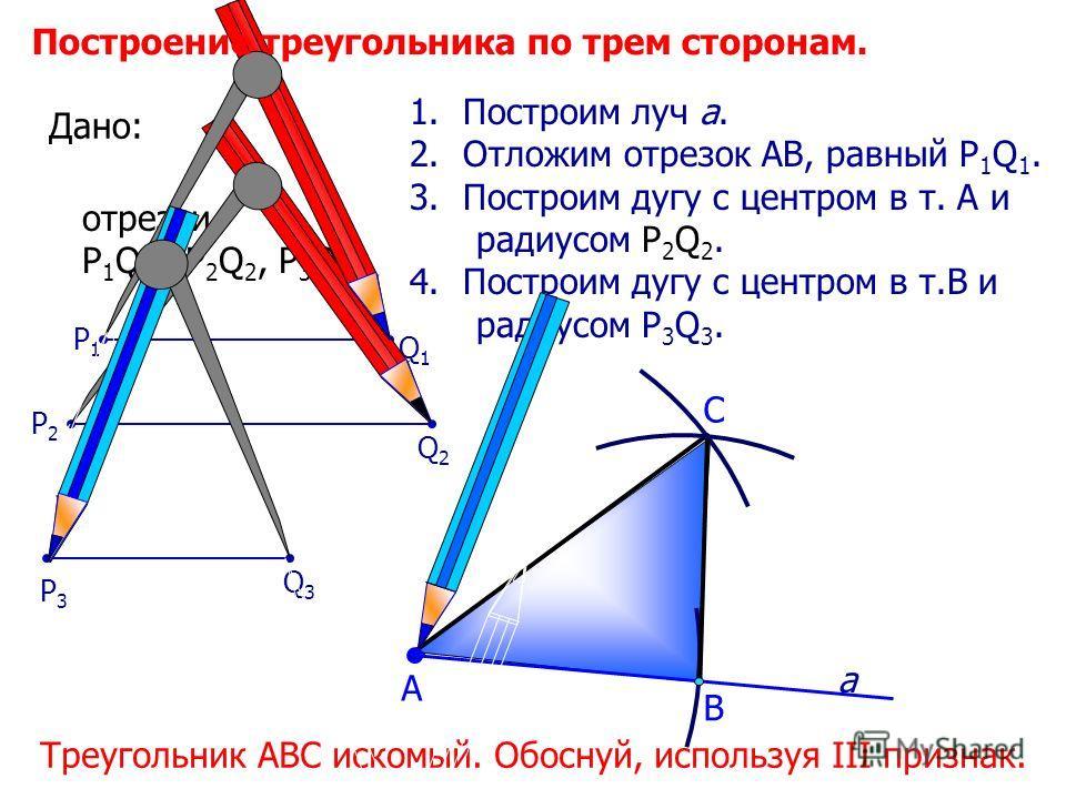 Схема решения задач на построение