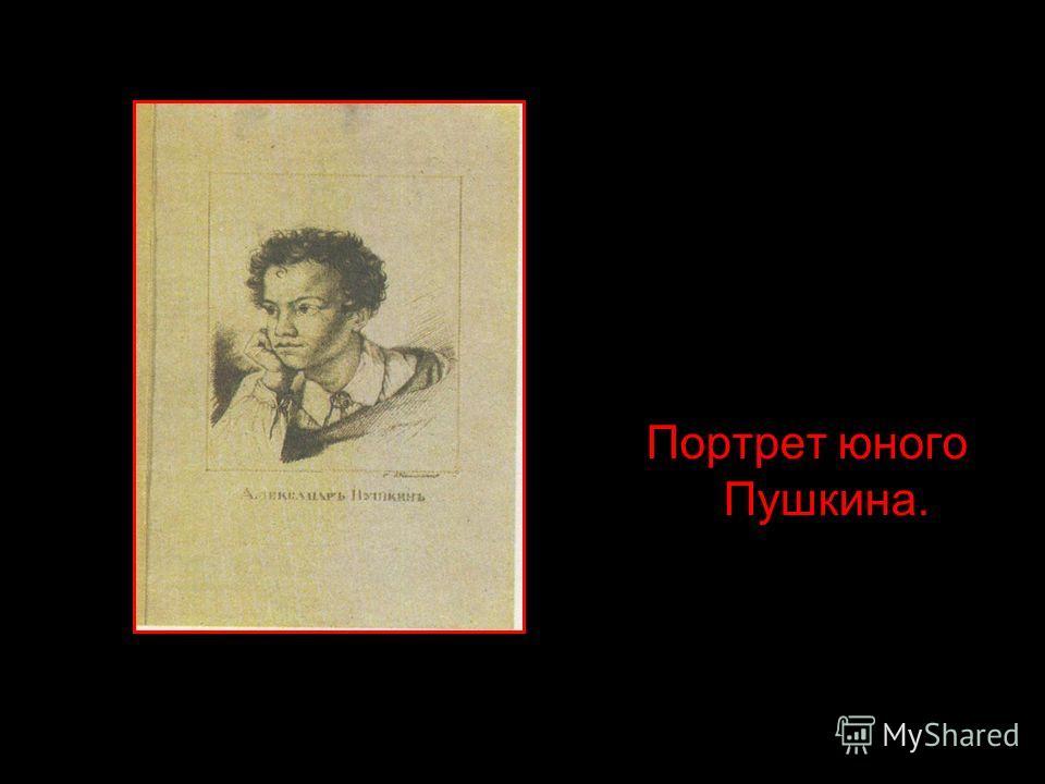 Портрет юного Пушкина.