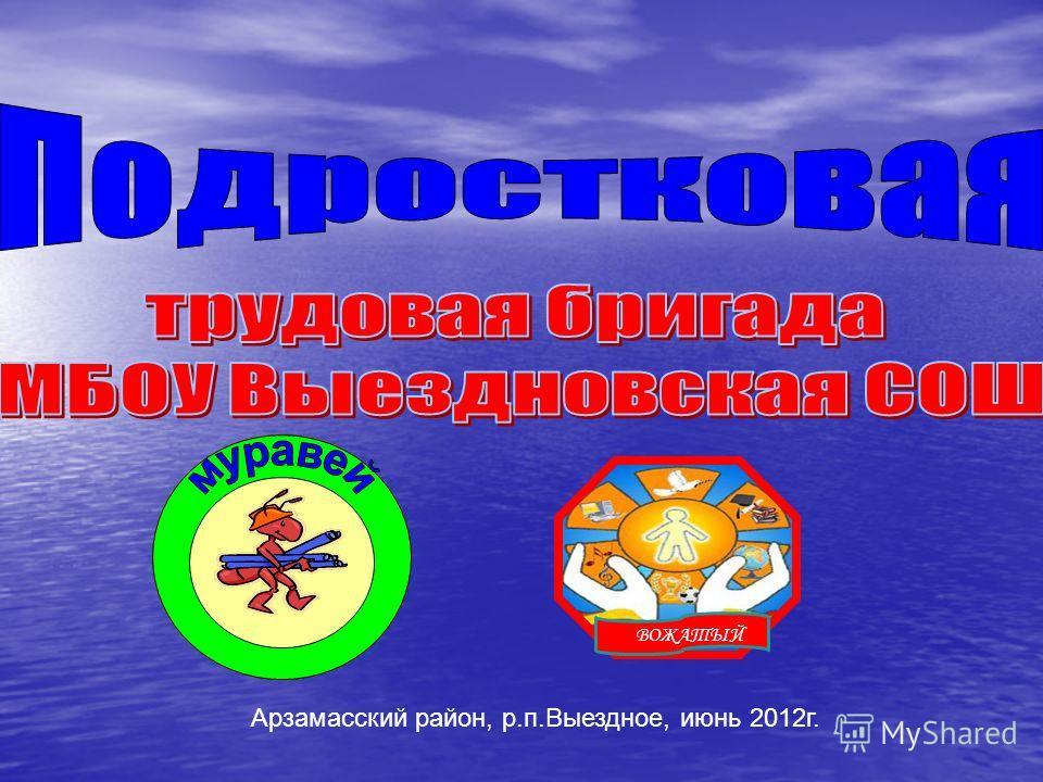 Арзамасский район, р.п.Выездное, июнь 2012г. В ВОЖАТЫЙ