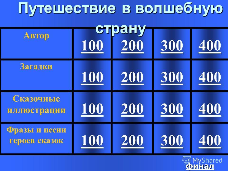 400 Ответ: Бременские Музыканты «Мы к вам заехали на час»