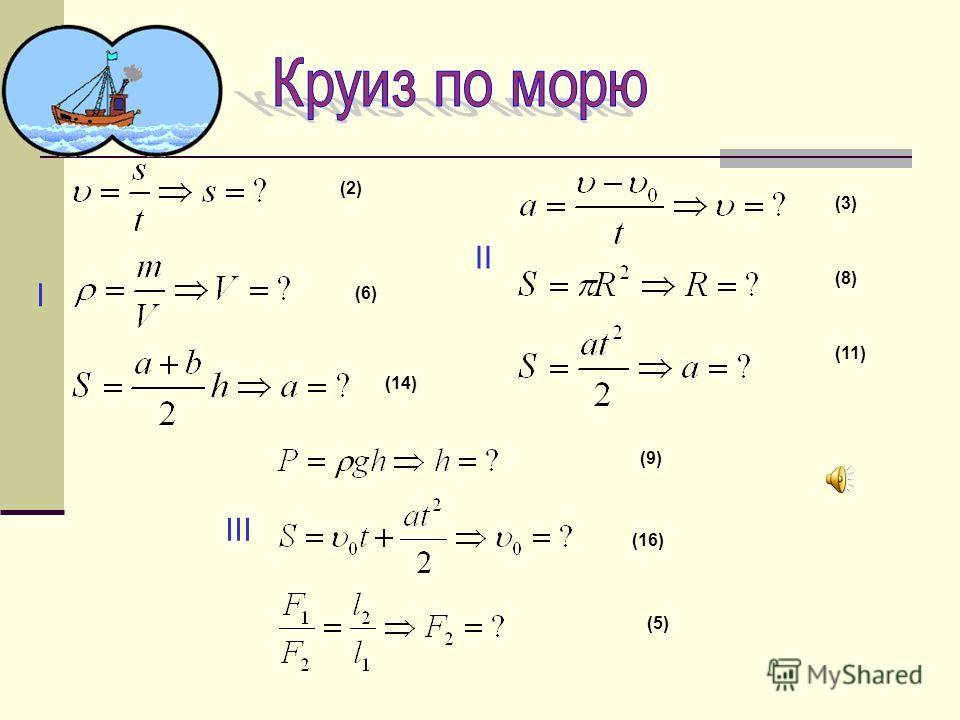 II I III (2) (6) (14) (3) (8) (11) (9) (16) (5)