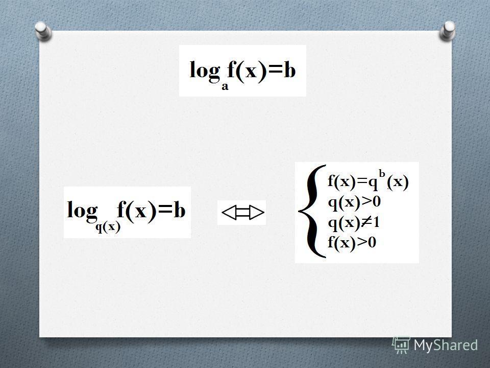 Какое уравнение называется логарифмическим? Уравнения, содержащие неизвестные под знаком логарифма или в основании логарифма, называются логарифмическими уравнениями.
