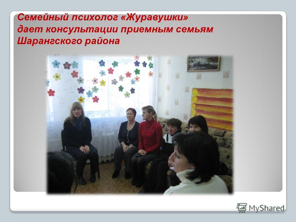 Семейный психолог «Журавушки» дает консультации приемным семьям Шарангского района