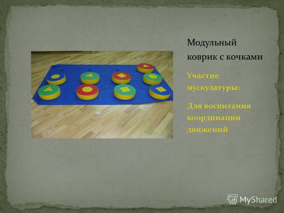 Модульный коврик с кочками Участие мускулатуры: Для воспитания координации движений