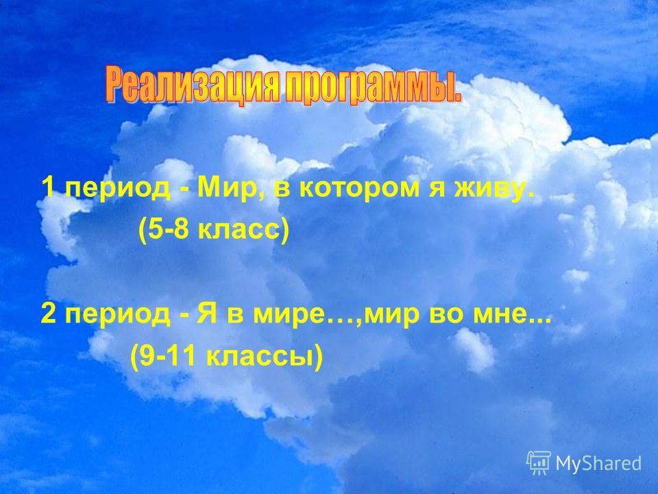 1 период - Мир, в котором я живу. (5-8 класс) 2 период - Я в мире…,мир во мне... (9-11 классы)