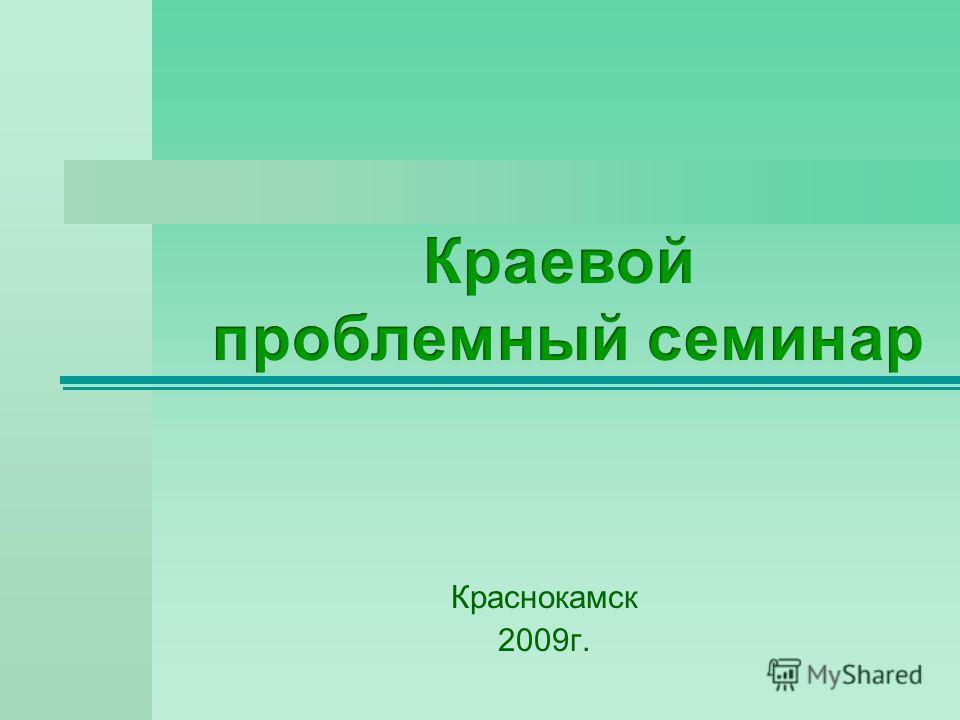 Краснокамск 2009г.