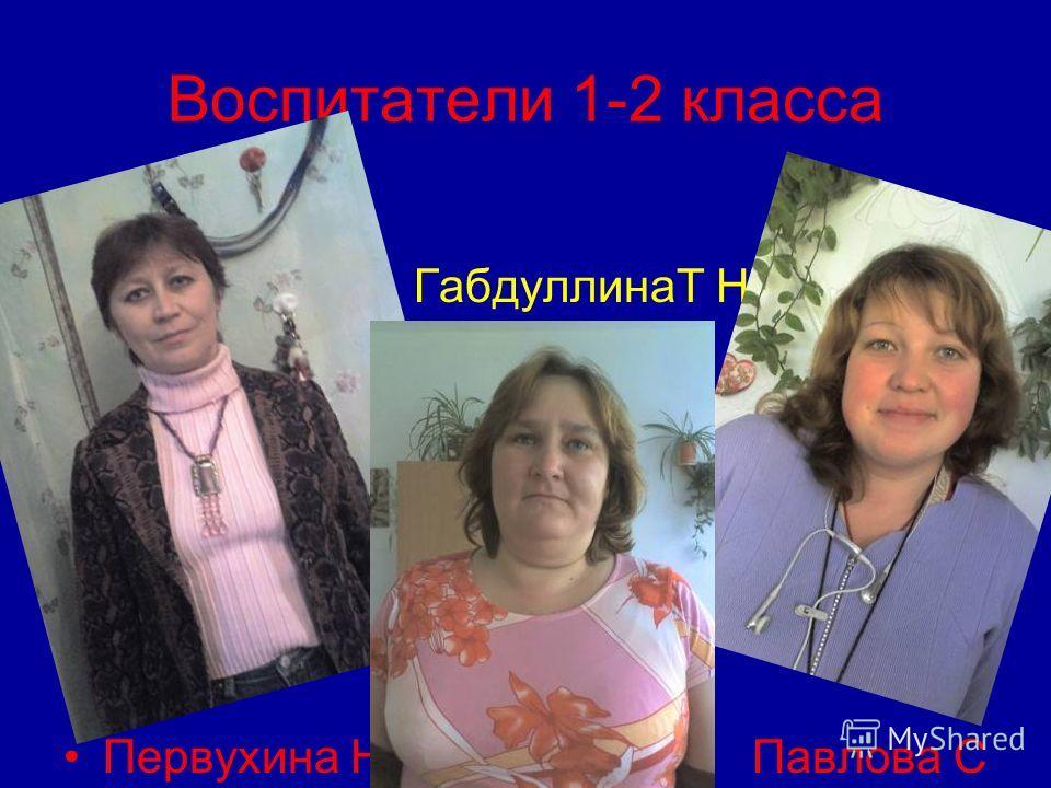 Воспитатели 1-2 класса ГабдуллинаТ Н. Первухина Н А. Павлова С А
