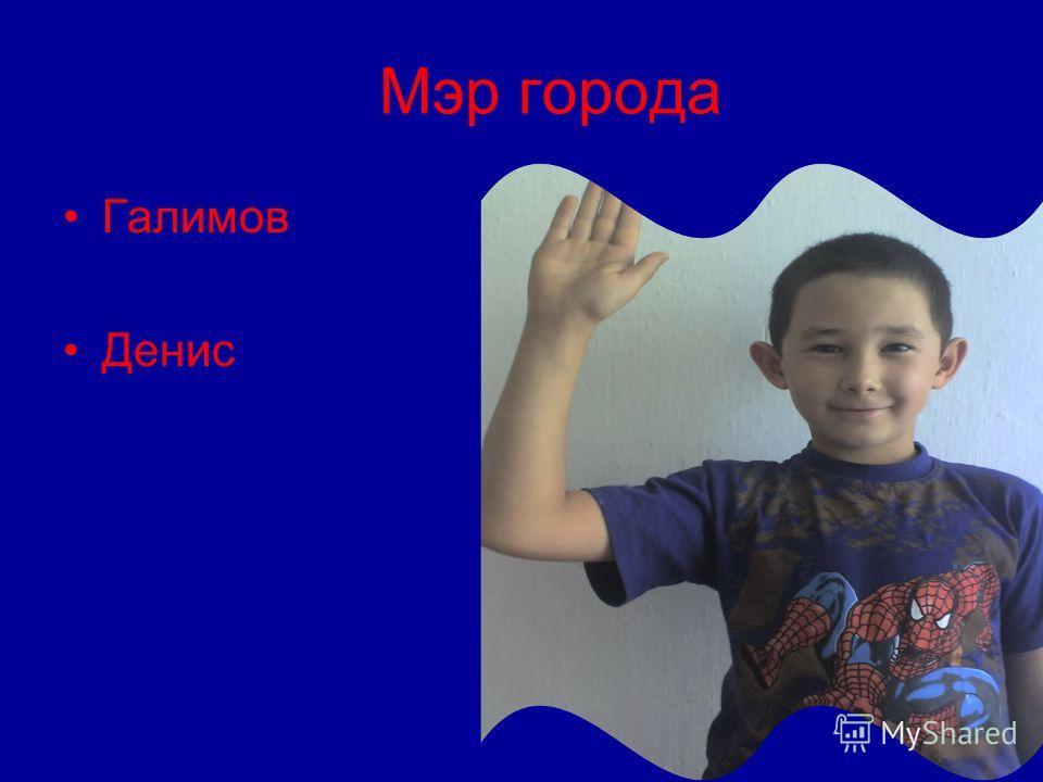 Мэр города Галимов Денис