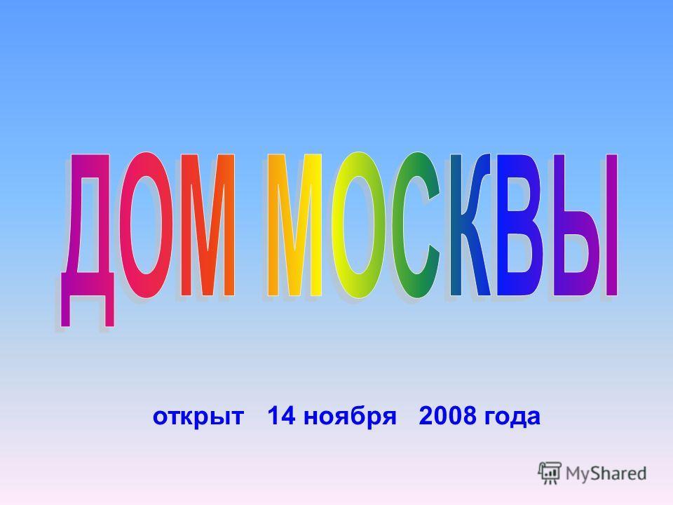 открыт 14 ноября 2008 года