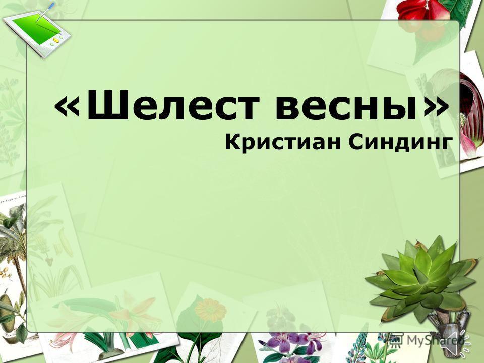 «Шелест весны» Кристиан Синдинг