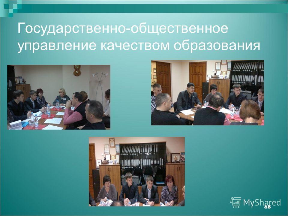 Государственно-общественное управление качеством образования 58