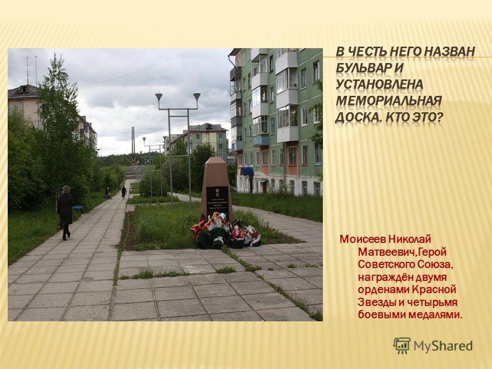 Моисеев Николай Матвеевич,Герой Советского Союза, награждён двумя орденами Красной Звезды и четырьмя боевыми медалями.