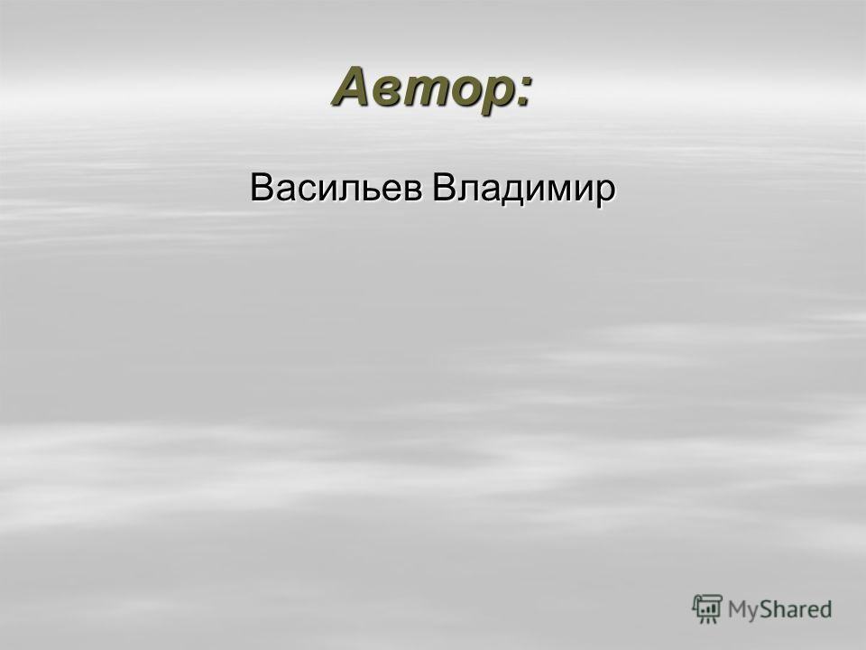 Автор: Васильев Владимир