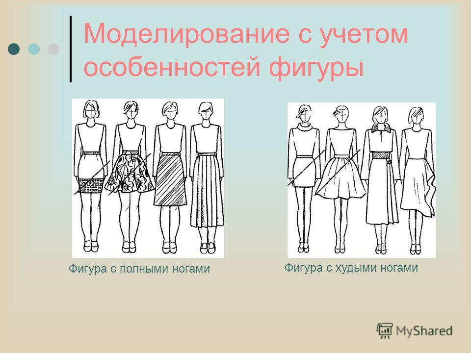 Моделирование с учетом особенностей фигуры Фигура с полными ногами Фигура с худыми ногами