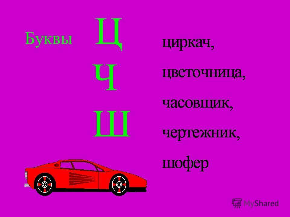 Буквы Ц Ч Ш