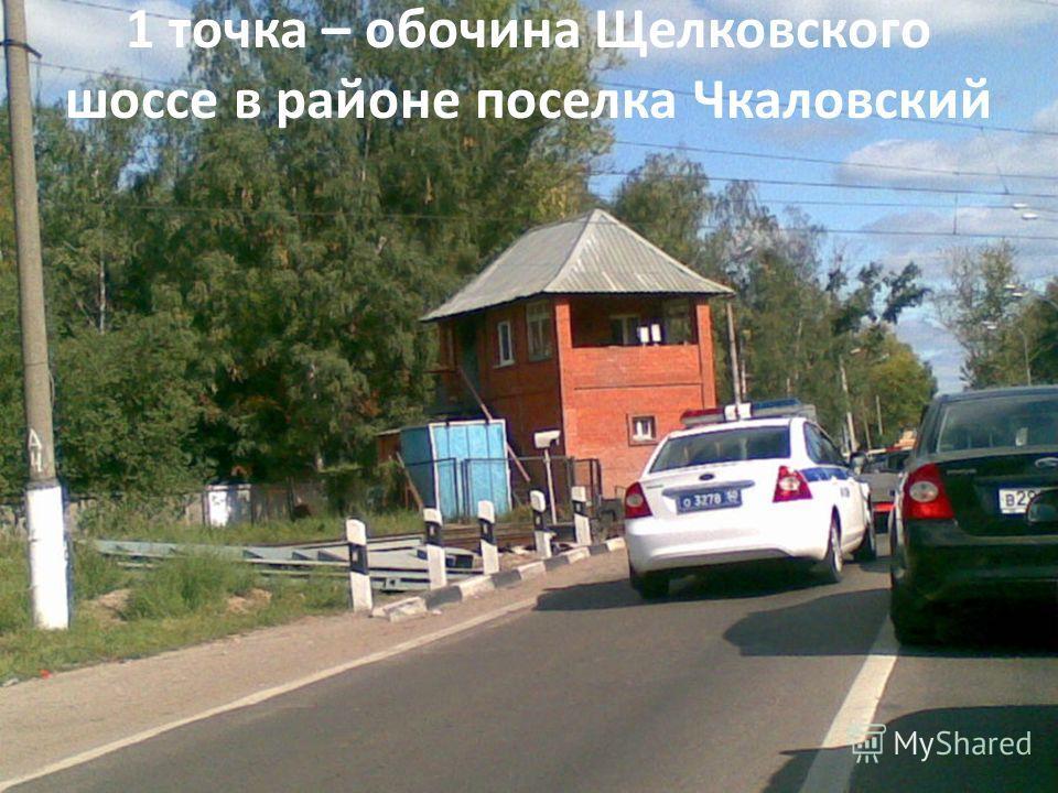 1 точка – обочина Щелковского шоссе в районе поселка Чкаловский
