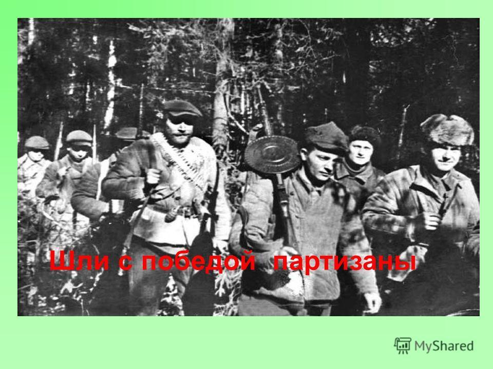 Шли с победой партизаны