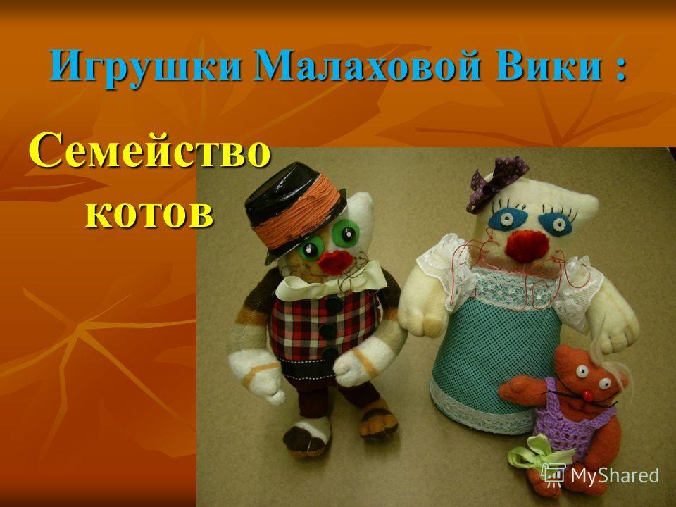 Игрушки Малаховой Вики : Семейство котов
