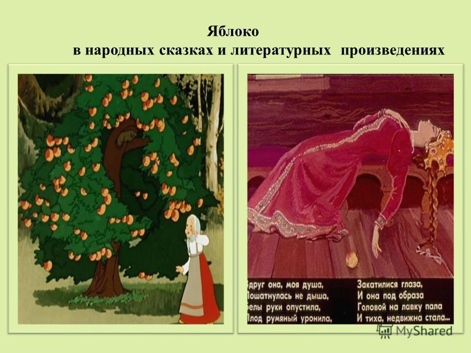 Яблоко в народных сказках и литературных произведениях