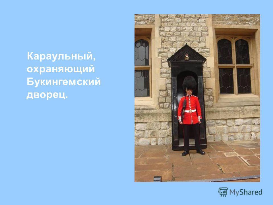 Караульный, охраняющий Букингемский дворец.