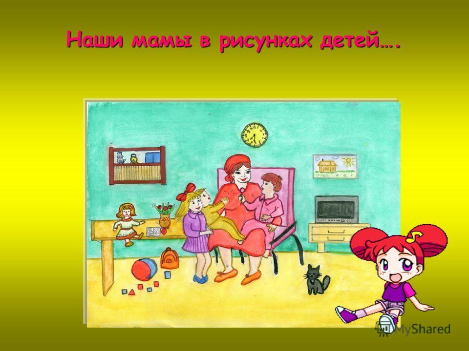 Наши мамы в рисунках детей….