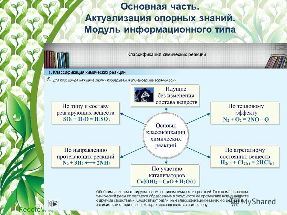 FedotoVA Основная часть. Актуализация опорных знаний. Модуль информационного типа