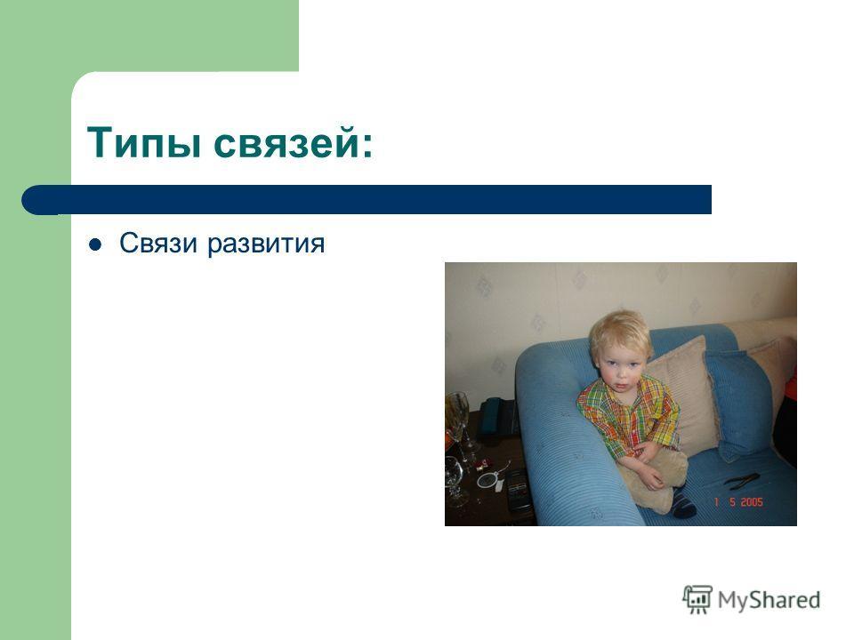 Типы связей: Связи развития