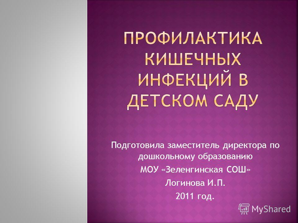 Подготовила заместитель директора по дошкольному образованию МОУ «Зеленгинская СОШ» Логинова И.П. 2011 год.