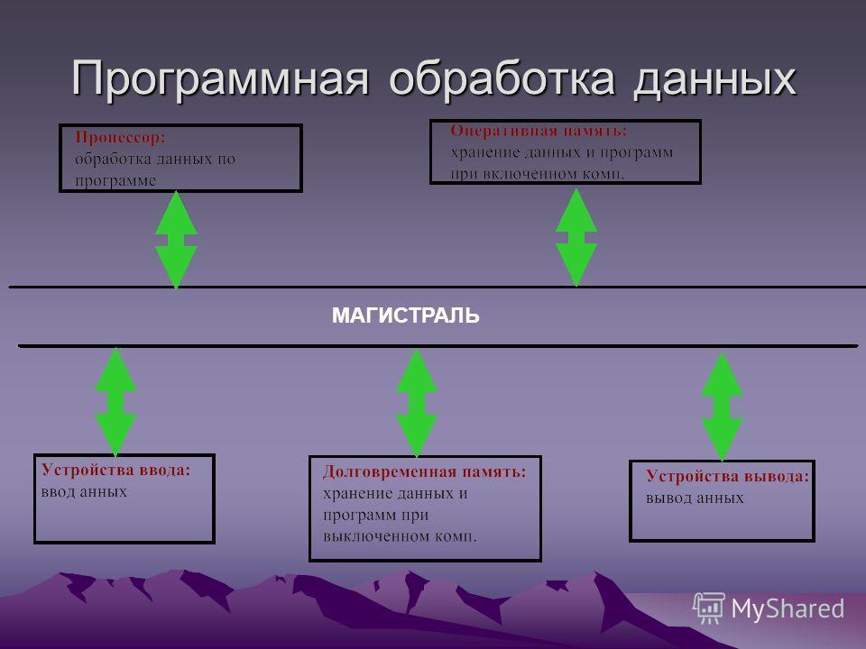 Программная обработка данных МАГИСТРАЛЬ