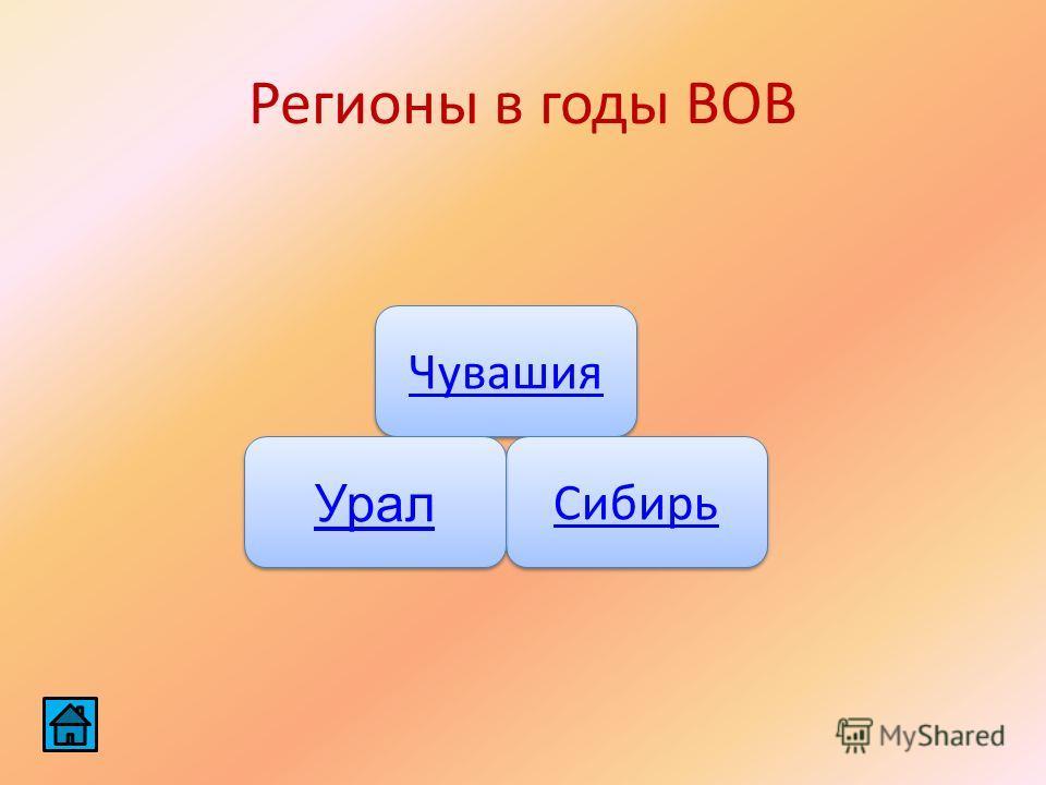 Регионы в годы ВОВ Чувашия Сибирь Урал