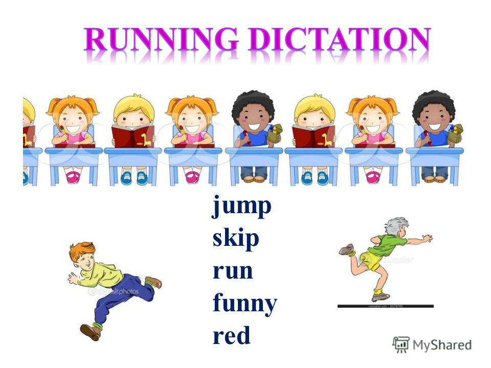 jump skip run funny red