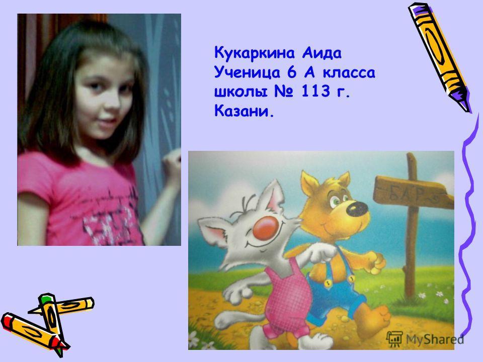 Кукаркина Аида Ученица 6 А класса школы 113 г. Казани.