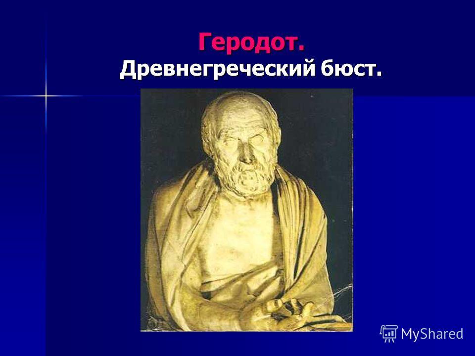 Геродот. Древнегреческий бюст.