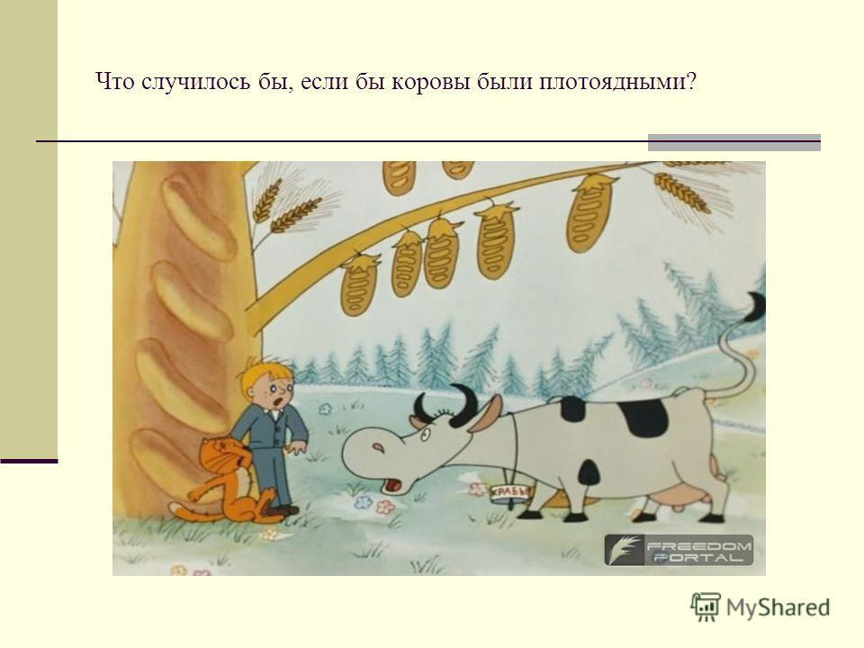 Что случилось бы, если бы коровы были плотоядными?