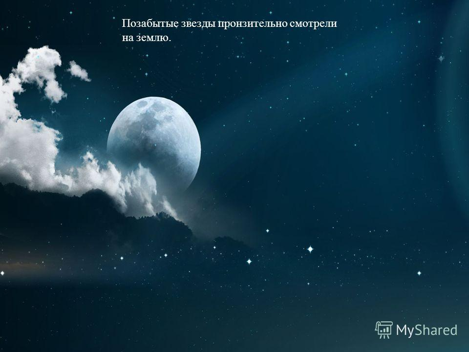 Позабытые звезды пронзительно смотрели на землю.