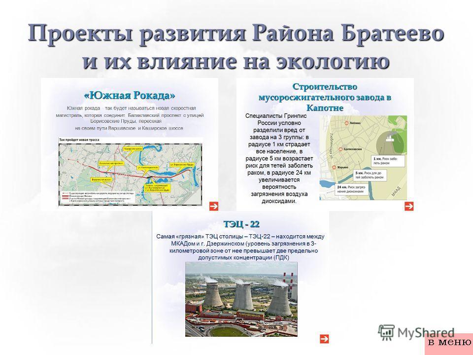 Проекты развития Района Братеево и их влияние на экологию