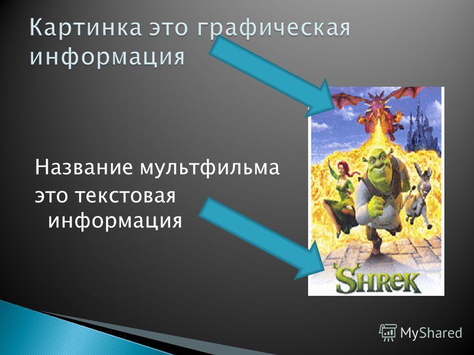 Название мультфильма это текстовая информация