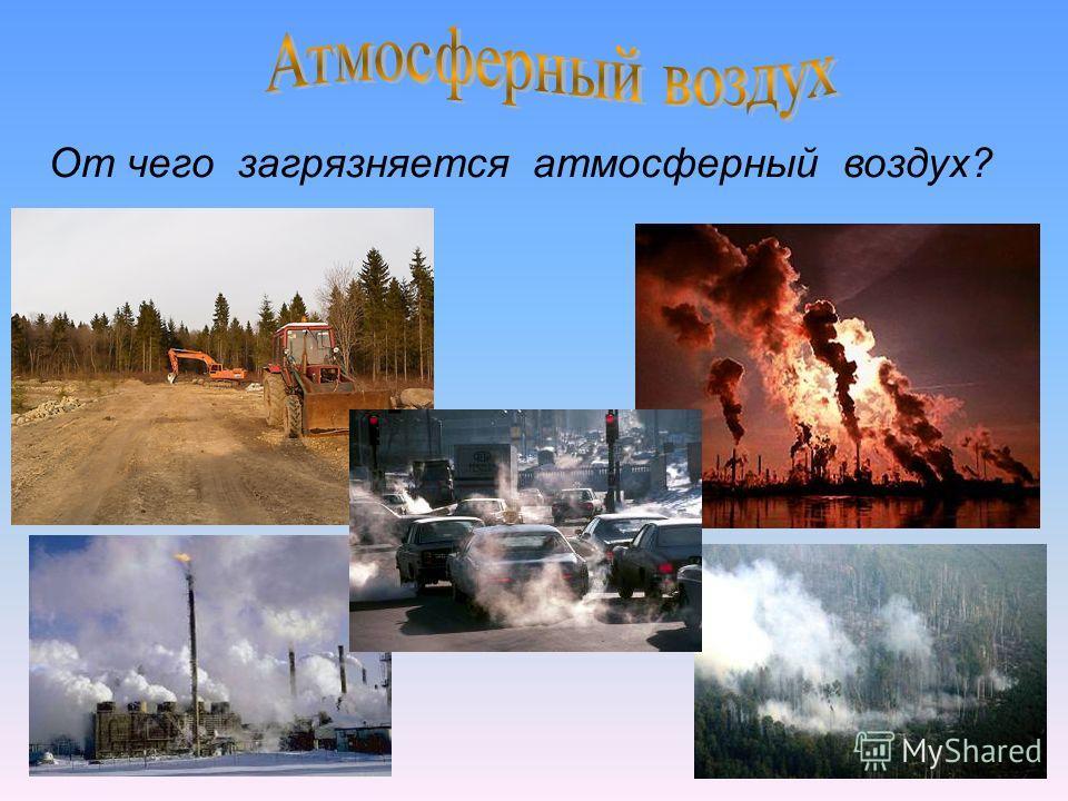 От чего загрязняется атмосферный воздух?