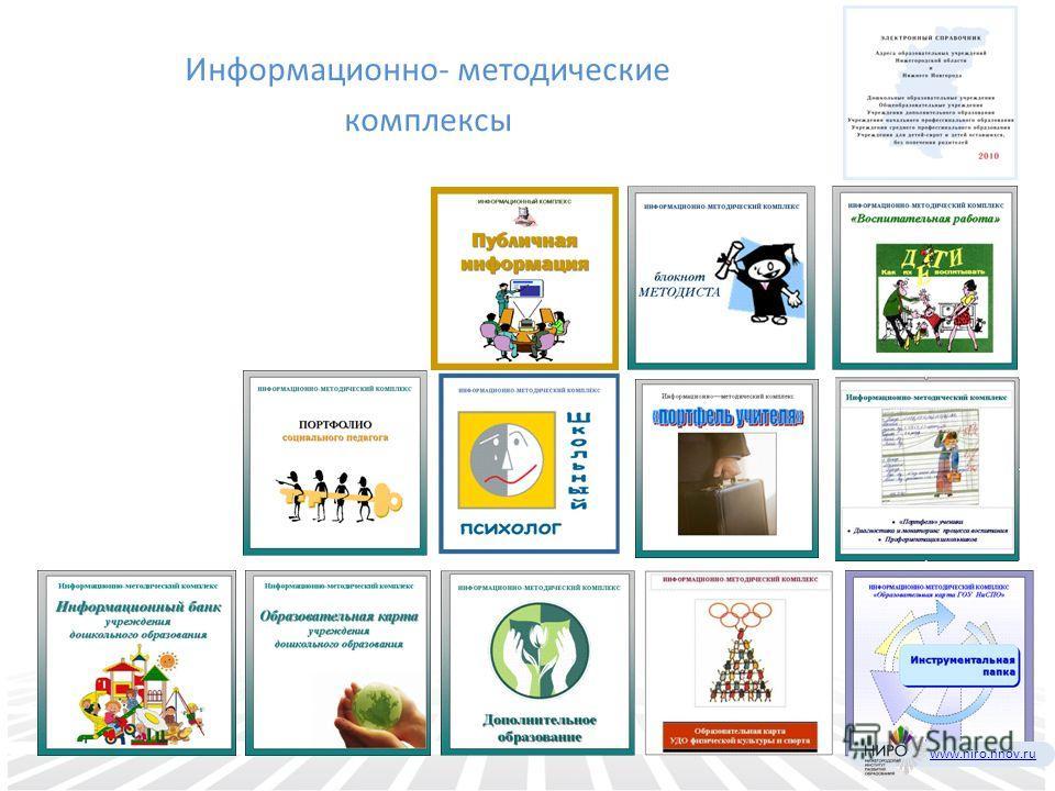 Информационно- методические комплексы www.niro.nnov.ru