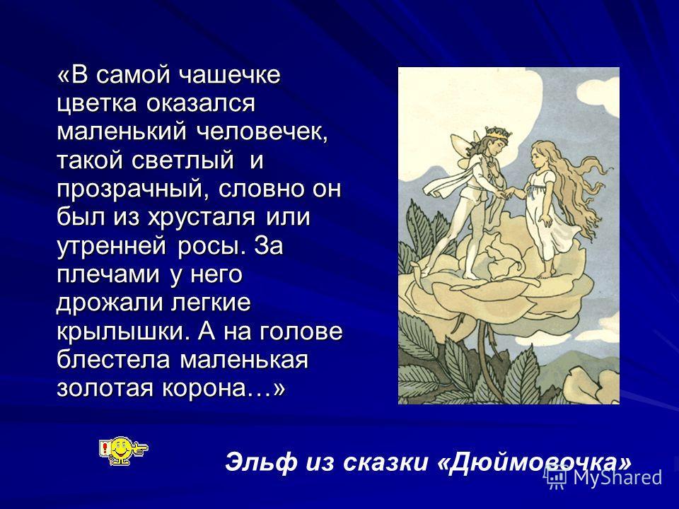 Эльф из сказки «Дюймовочка»