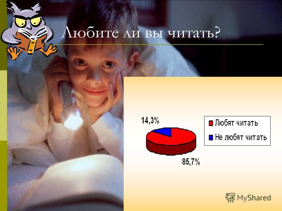 Любите ли вы читать?