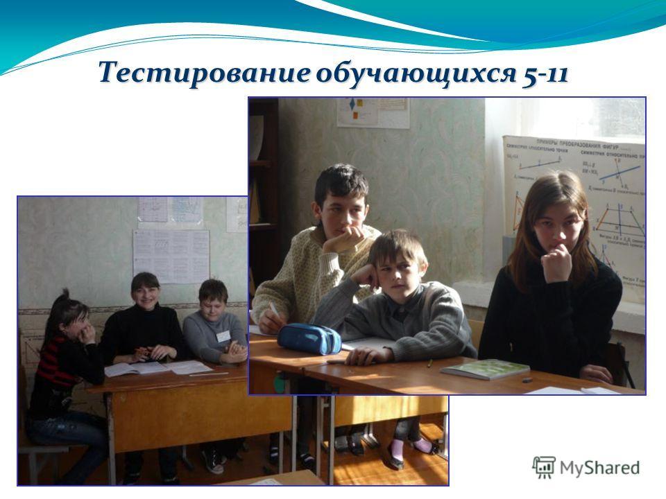 28.3.13 Тестирование обучающихся 5-11 классов