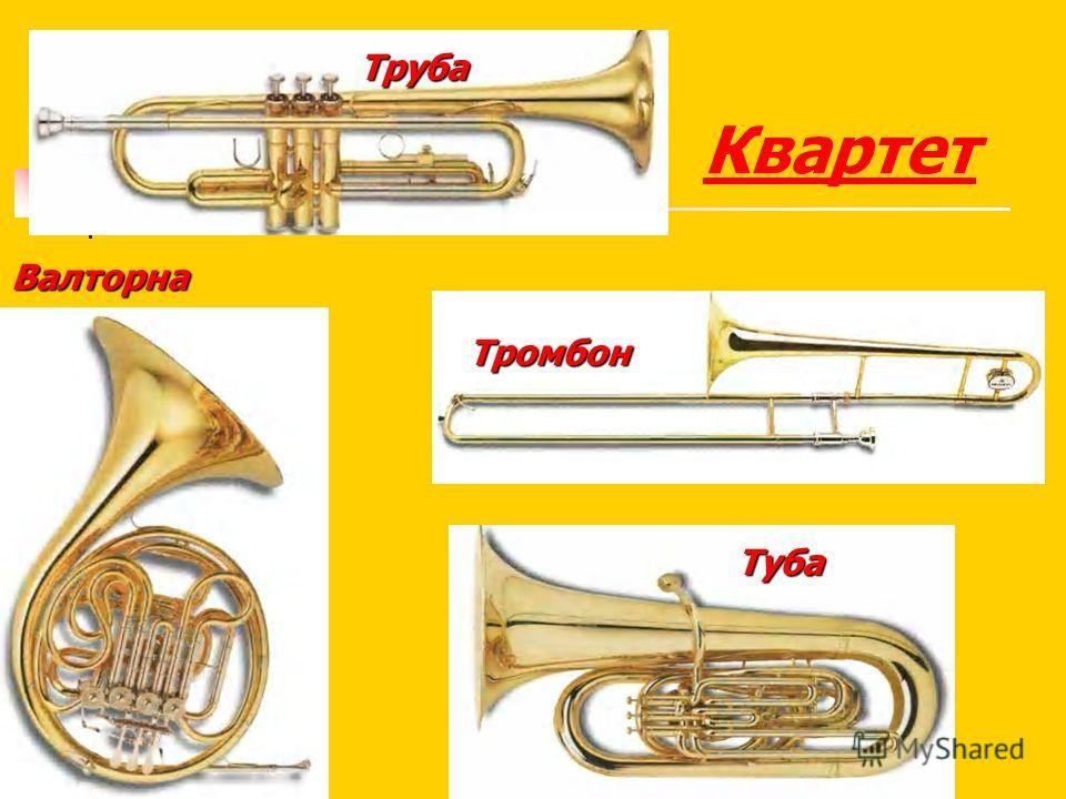 Труба Тромбон Туба Квартет Валторна