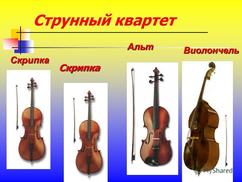 Струнный квартет Скрипка Альт Виолончель Скрипка