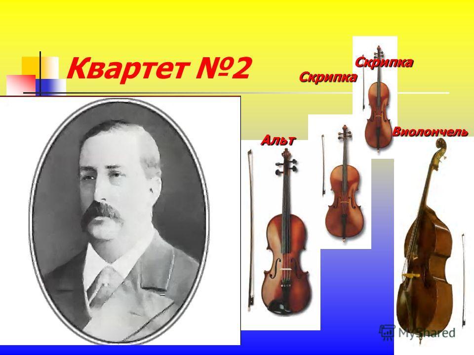 Квартет 2 Скрипка Скрипка Альт Виолончель